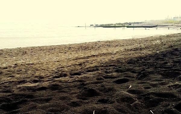 Black sand of Lankaran  — Черньıй песок Ленкорани