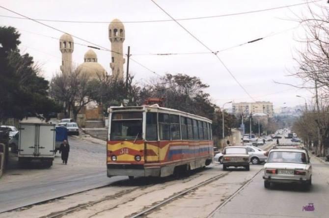 старая трамвайная линия в баку