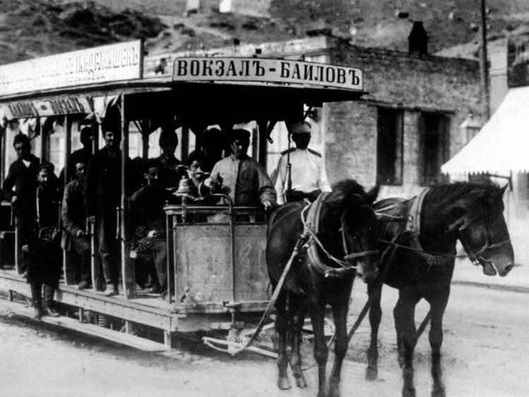 Трамвай-конка в Баку